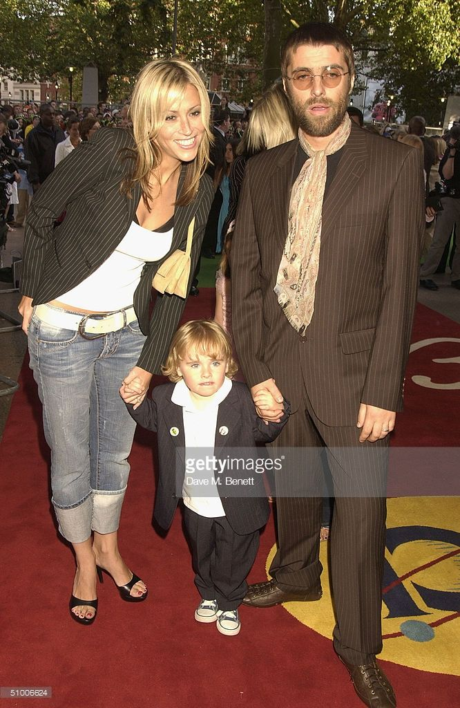 Oasis Frontman Liam Gallagher Son Gene Appleton Gallagher And Wife Nicole Appleton Arrive At The Uk Charity Premiere Of Shrek  At The Emp Oasis