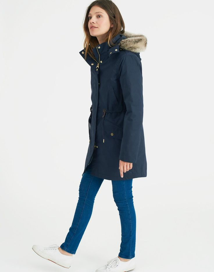 Wyndfall Marine Navy 3-in-1 Parka-Style Coat | Joules US