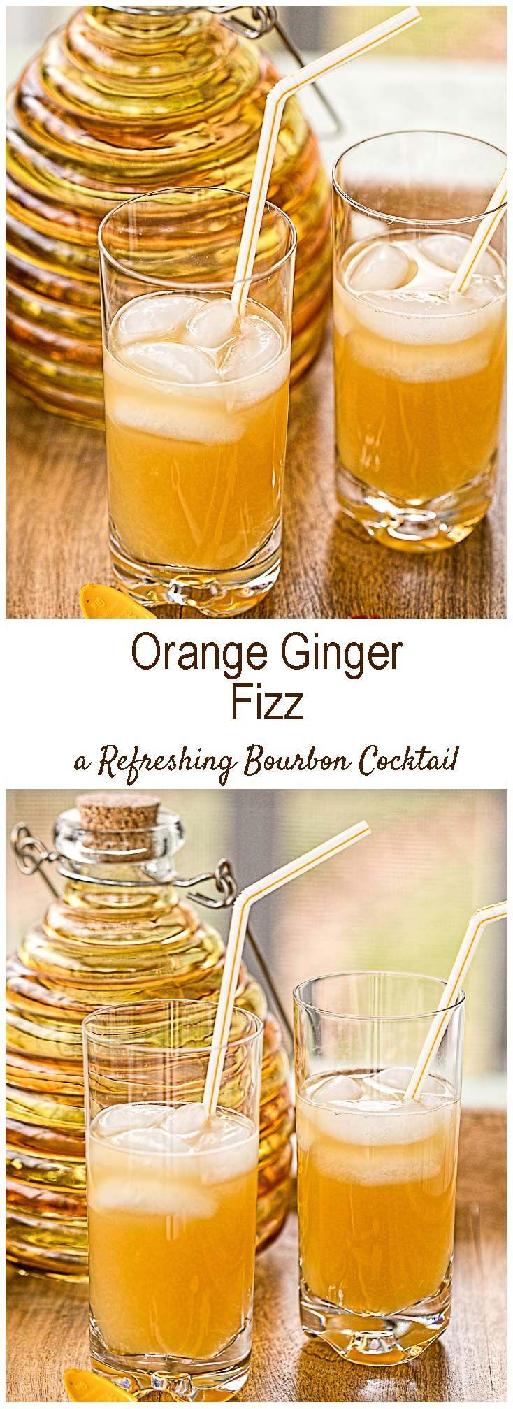 Ginger Beer Cocktails - Orange Ginger Fizz!