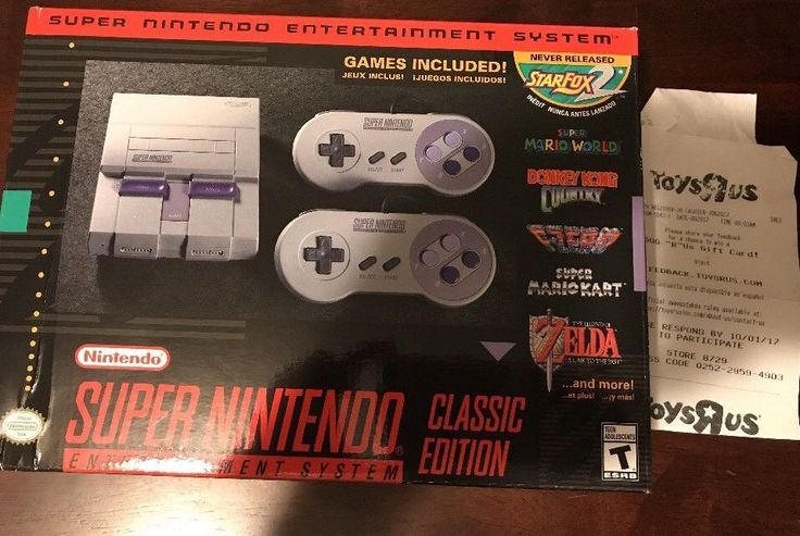 Super Nintendo Entertainment System: Super NES Classic Edition with Receipt  | eBay