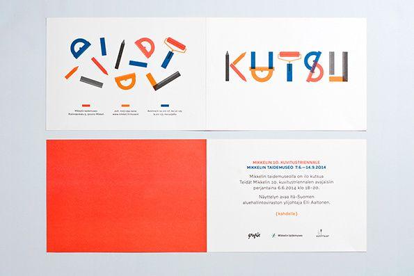 Mikkeli Illustration Triennial Identity, Stationery by Prakt