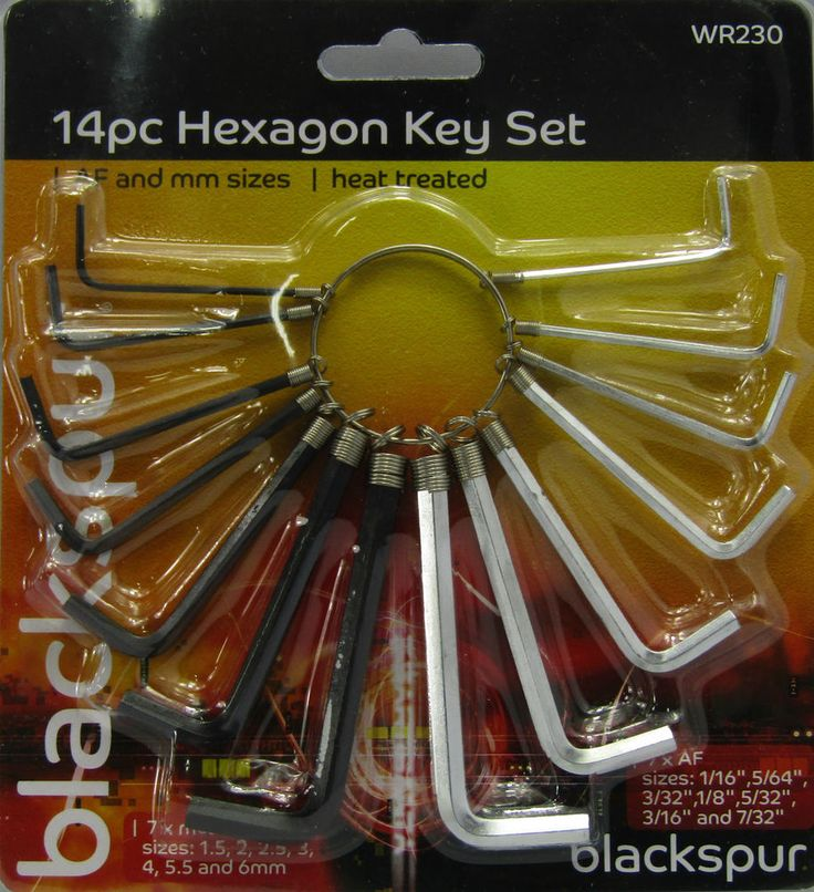 14PC METRIC IMPERIAL HEX HEXAGON ALLEN ALAN KEY WRENCH SET HEX KEY
