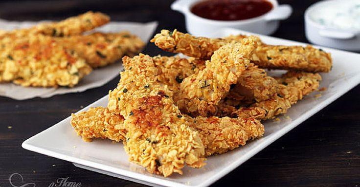 Dietní kuřecí stripsy s cornflakovou krustou a petrželkou + Video