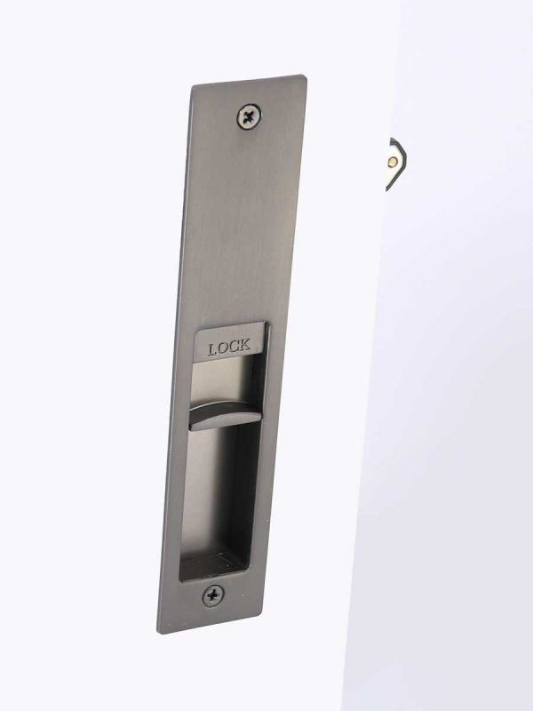 Lock or Bathroom //WC //Tolilet CHEAP Black Trim Door Handles Lever Latch Screws