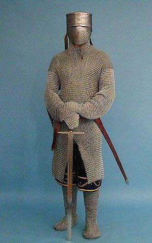 Chainmail was a form of metal armor worn by soldiers. It was made of metal rings that were attached to each other. The point of chain mail was to prevent injury when a soldier was in war.