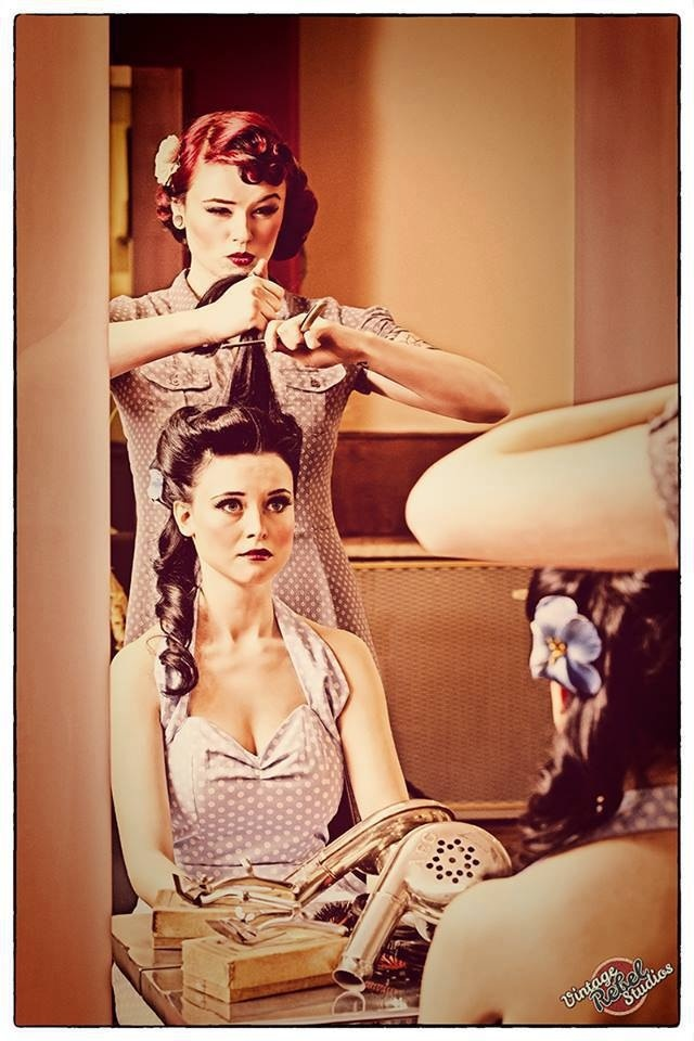 Pinup victory rolls ... Love this