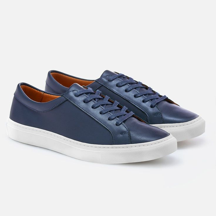 Alba Low Top Sneakers - Navy Leather