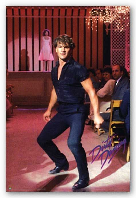 Patrick Swayze - it wasn't just the pretty boy face, it was the way he MOVED that was so hot.