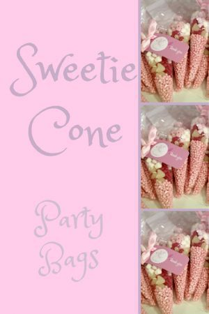 Sweet Cone Party Bags. The perfect easy party favour. Brilliant kids party bag idea.