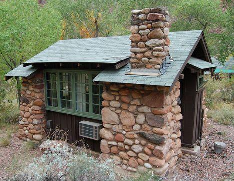 Tiny backyard retreat? Notice: both A/C and a fireplace!