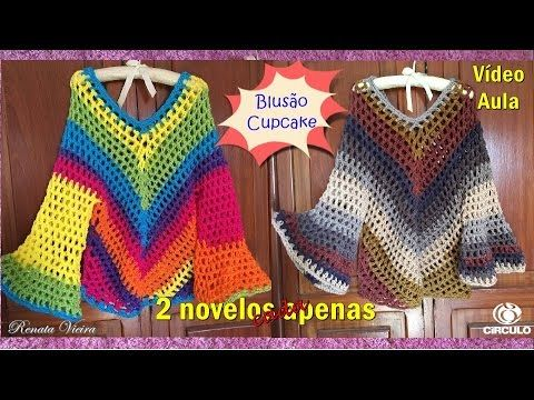 * Pérolas do Crochet: Blusa Cupcake - Apenas 2 novelos - VIDEO AULA