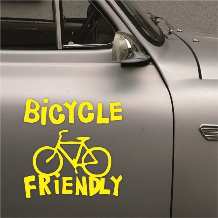 BICYCLE FRIENDLY  car stickers