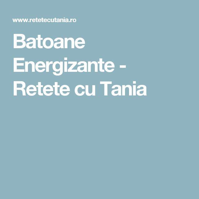 Batoane Energizante - Retete cu Tania