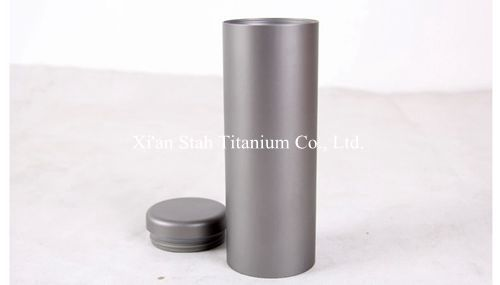 Pure Titanium Thermal inslulation Double wall Cylindrical Cup Bottle size 60x170ml Volume 200ml 300g/pc Finger-mark-resistance