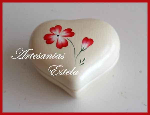 Souvenirs 50 Años - Cajitas Corazon De Ceramica