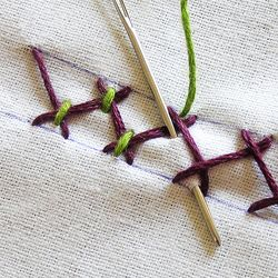 How-To Instructions for nearly any embroidery stitch.  This site will come in very handy.