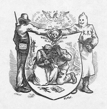 """Due to the Black Codes, directly following the emancipation of slaves, blacks who lived in the south's way of life and the treatment towards them were not significantly better than when they were in slavery (""""Separate is Not Equal""""). Blacks continued to be treated violently and with little to no respect, were unable to gain significant amounts of money, were trapped in the farming industry, and had little legal power or abilities (""""Separate is Not Equal"""")."""