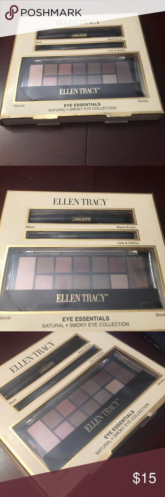 Ellen Tracy Eye Essentials Contains: Duo Mascara ( Black & Black- Brown ) Eyeliner Pencil ( Black ) Eyeshadow Palette with Brush Ellen Tracy Makeup