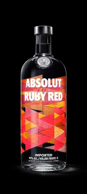 """Absolut Vodka Revamps Flavor Range - The Dieline. Absolut vodka. The standard thinking says a fruit-flavoured vodka requires a picture of the fruit on the bottle. We wanted to break that convention. We asked our design team to reach into the symbolism and myths tied to the ingredients to find each flavour's core essence - and then amplify that essence through art."""" - Anna Kamjou, Global Design Director at Absolut"""