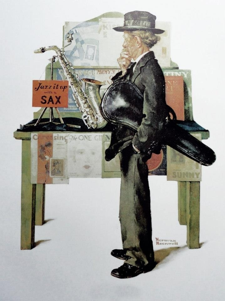 """Jazz It Up"" ... by Norman Rockwell - Saturday Evening Post Cover November 2, 1929"