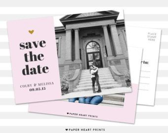 save-the-date modern save the date photo by westwillow on Etsy