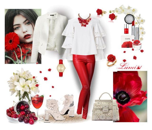 """""""cherry's time"""" by lumi-21 ❤ liked on Polyvore featuring Exclusive for Intermix, Roger Vivier, Sia, Disney, Oscar de la Renta, Express, Pier 1 Imports, Giorgio Armani, By Terry and Kenzo"""