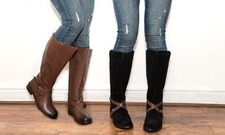 #Stivali redfoot in pelle da donna disponibili  ad Euro 54.99 in #Groupon #Shopping