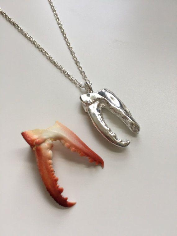 Cape Cod Crab Pincers Pure Silver Precious Metal Clay by coraljoy