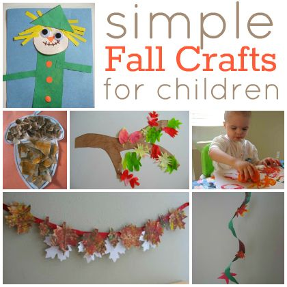 Simple fall crafts for kids - great for your little artists.