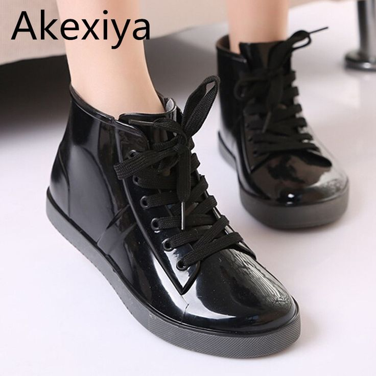 $16.20 (Buy here: https://alitems.com/g/1e8d114494ebda23ff8b16525dc3e8/?i=5&ulp=https%3A%2F%2Fwww.aliexpress.com%2Fitem%2FLace-Up-Rain-Boots-Fashion-Solid-Ladies-Flats-Ankle-Boots-Casual-Silver-Women-Boots-Shoes-Woman%2F32793307476.html ) Akexiya Lace-Up