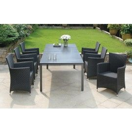 LIVORNO EXTENDABLE TABLE + MONZA CHAIRS - 7PC SET