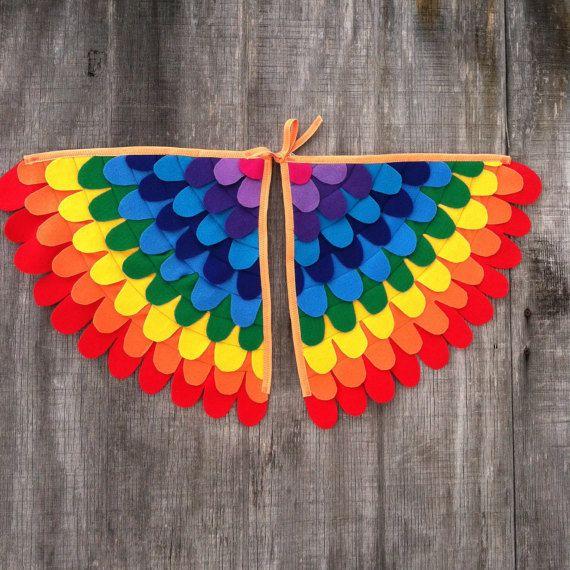 Eco felt rainbow wings!