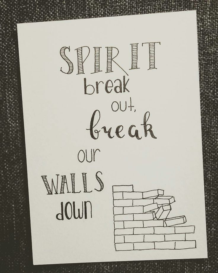 Spirit break out, break our walls down. This song really touched me yesterday at the youth worship 🎵 . . . . #dutchlettering #letterart #lettering #modernlettering #handletteren #letters #handlettering #handlettered #handgeschreven #handdrawn #handwritten #creativelettering #creativewriting #creatief #typography #typografie #moderncalligraphy #handmadefont #handgemaakt #sketch #doodle #draw #tekening #illustrator #illustration #typespire #dailytype #quote #spirit #song