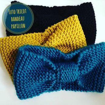 tuto tricot bandeau papillon sp cial tricoteuse d butante bandeau facile r aliser en drops. Black Bedroom Furniture Sets. Home Design Ideas