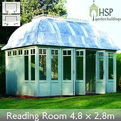 HSP Classic Garden Buildings - Reading Room Victorian Summerhouse 4.8 x 2.8m | Birstall