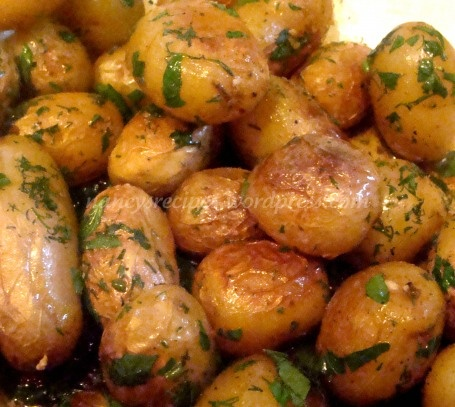 Barefoot Contessa Herbed Potatoes - saw them on her show... gotta try them!