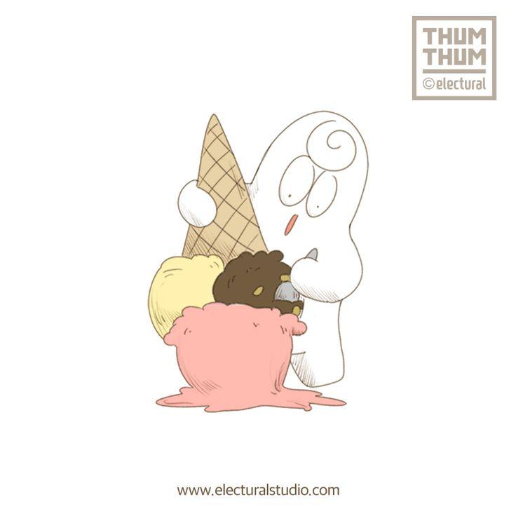 아이스크림 먹고 골라먹는 법   - #ThumThum #떰떰앤프렌즈 #character #illustration #sketch #drawing #스케치 #illust #드로잉 #캐릭터 #그림 #good #일러스트 #funny #ThumThumAndFriends #lovers #likes #colors #cartoon #design #Anime #icecream #postcard #Electural #일렉츄럴 #ElecturalStudio