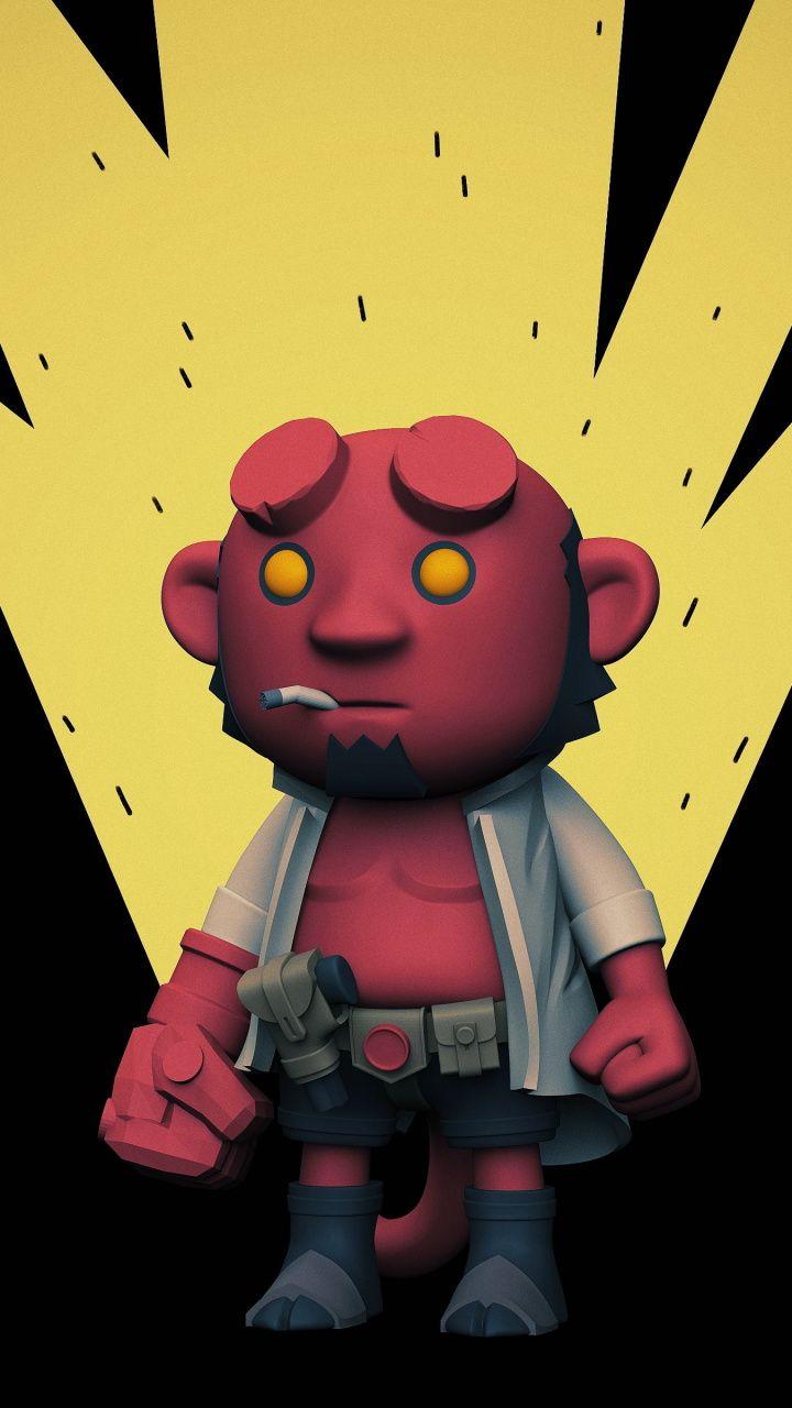 Artwork Hellboy Superhero 720x1280 Wallpaper Your Pinterest