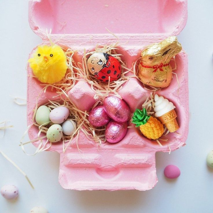 Osternest aus Eierkarton bemalen und passend füll…