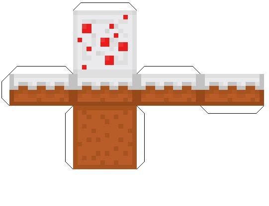Minecraft Papercraft Cake!