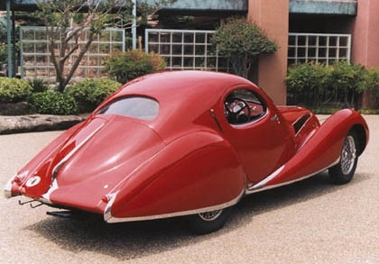 Talbot-Lago T150C-SS Teardrop Coupe (Figoni et Falaschi), 1938... I don't know much about cars, but I know I like how this one looks.