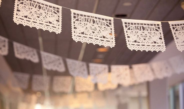 Guirlande décoration de mariage en papel picado   Blog mariage, Mariage original, pacs, déco