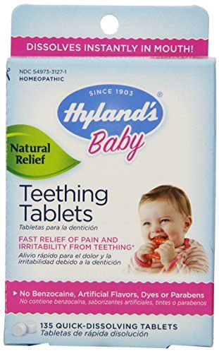 Something sounds good – even to your fussy, teething baby. It's the shake-shake of a Hyland's Baby Teething Tablets bottle. These tablets have rock...