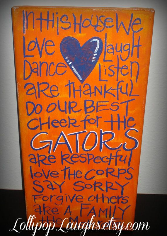 Florida Gators In This House Canvas, Sign, Plaque On Etsy, $17.00