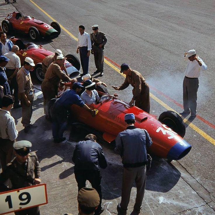 Gran Premio d'Italia, Autodromo Nazionale di Monza, Italy, 1957. Wolfgang Von Trips su Ferrari.