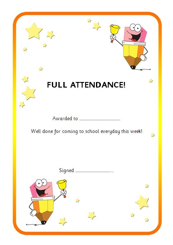 Best 25+ Attendance certificate ideas on Pinterest Certificate - award of excellence certificate template