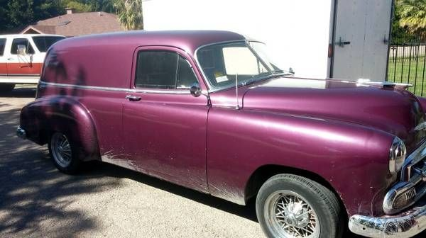 Passion For Purple: 1950 Chevrolet Sedan Delivery - http://barnfinds.com/passion-for-purple-1950-chevrolet-sedan-delivery/