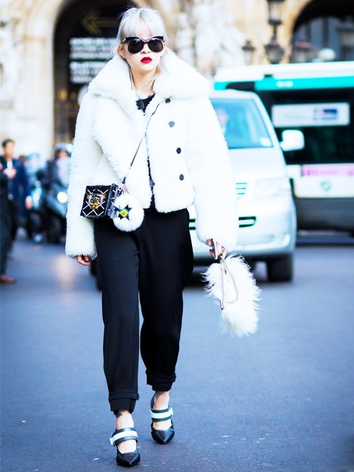 How Street Style's Coolest Wear Winter White via @WhoWhatWearUK
