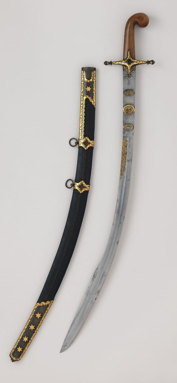 Ottoman kilij with Scabbard. Blade dated A.H. 957/ A.D. 1550–1551; mountings, 18th century, The Metropolitan Museum of Art