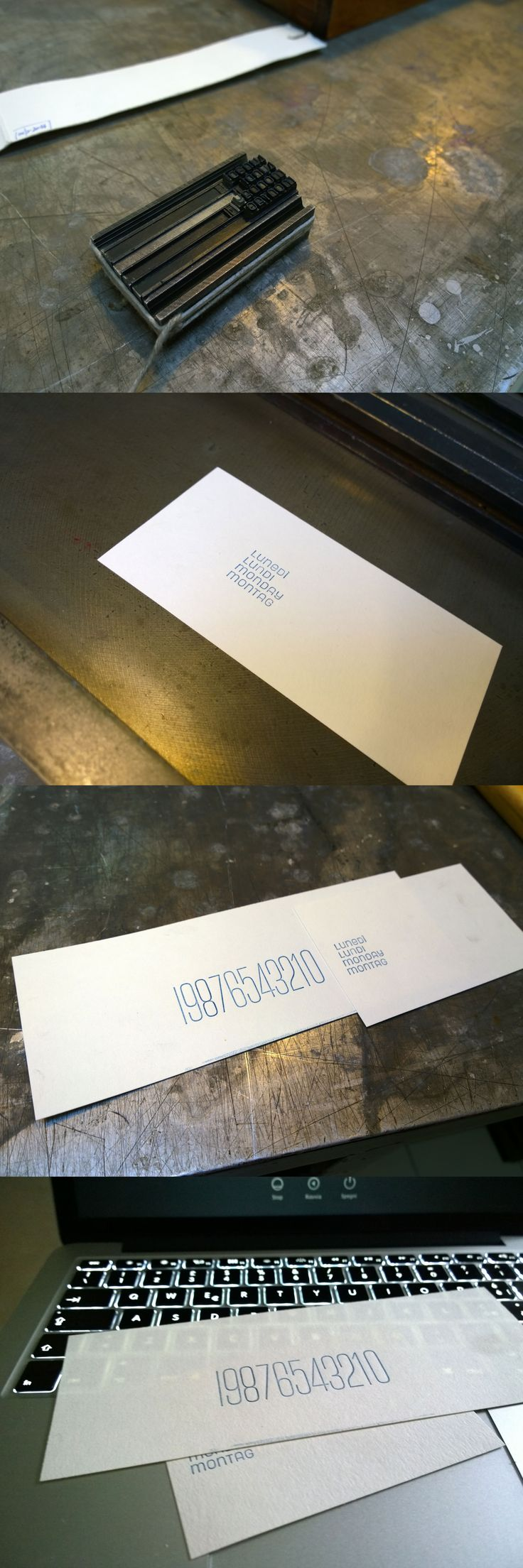 Neon type metal by Nebiolo Foundry. First print test for the perpetual calendar. Limited edition of 50 pcs. Soon available.